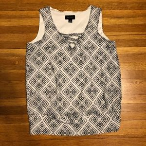 AB Studio printed tank top blouse
